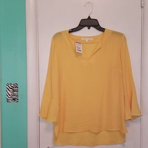 Women's Violet & Claire Bell-Sleeve Yellow Blouse